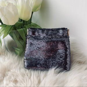 🌿 Anthropologie Sequin Coin Purse Glam Gift
